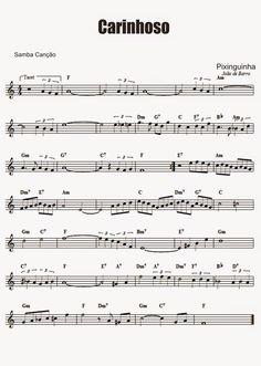 Carinhoso - Pixinguinha (chorinho) - Partitura para Teclado