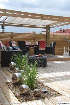 trädäck,uteplats,altan,sittbänk,pergola