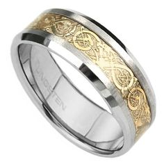 Celtic Dragon wedding band for a guy...pretty cool.