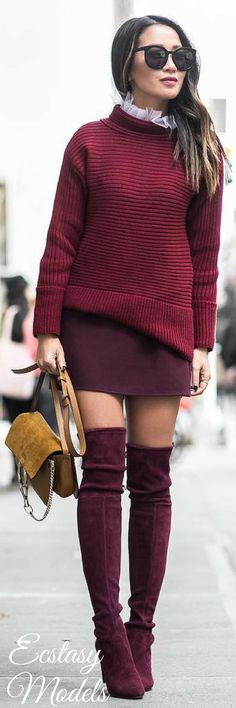 Burgundy Love // Fashion Look by Wendy Nguyen