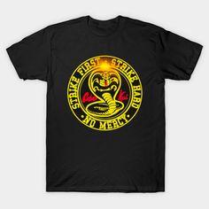 Cobra Kai Shirt, Hard No, Protest Posters, Miyagi, V Neck T Shirt, Kids Outfits, Graphic Tees, Shirt Designs, Tee Shirts