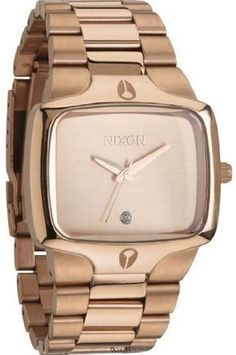 NIXON Womens Swiss Quartz and 26520 mm Tapered Custom Solid Stainless Steel 3 Link Bracelet and Stainless Steel Double Locking Clasp with Micro Adjust Casual Watch ColorAll Rose GoldToned Model A140897 * You can get more details by clicking on the image.