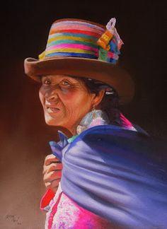 Watercolor Portraits, Watercolor Paintings, Peruvian Art, Mexican Art, Female Art, Art Gallery, Illustration Art, America, Drawings