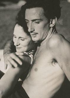 Salvador Dali with wife Gala
