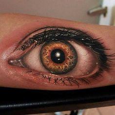 Gorgeous Golden Eye Tattoo Design