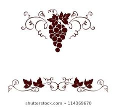 Find Set Design Elements Grape stock images in HD and millions of other royalty-free stock photos, illustrations and vectors in the Shutterstock collection. Vine Tattoos, Leaf Tattoos, Stencil Art, Stencils, Vine Design, Set Design, Bacchus, Glass Etching, Grape Vines