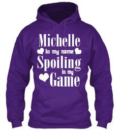 Michelle Is My Name Purple Sweatshirt Front