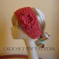 PDF Boho Style  Headband CROCHET PATTERN No 018 by JTEastCoast, $5.00