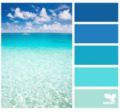 Different Shades Of Blue Paint beach color palettes from the shore | i love, beaches and living rooms