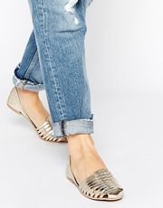ASOS - JUDGES - Chaussures à enfiler en cuir en deux parties