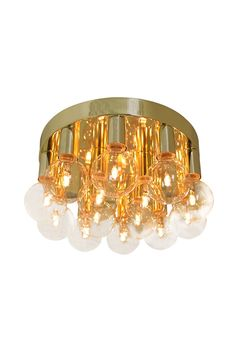 By Rydéns Plafond Facett Messing, Home Living Room, Gold Rings, Chandelier, Ceiling Lights, Lighting, By Rydéns, Home Decor, Bedroom