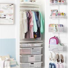 Tiny Closet, Small Closets, Closet Space, Open Closets, Dream Closets, White Closet, Closet Rod, Master Closet, Girls Closet Organization