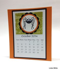 A Special Calendar from Linda White October Calendar, Today Calendar, Calendar 2014, Calendar Pages, Desk Calendars, Calendar Printable, Calendar Ideas, Post It Note Holders, Stampin Pretty