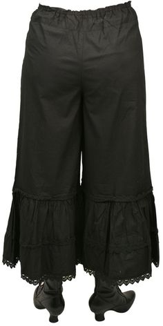 Traditional Victorian Bloomers - Black Cotton [002486] - this would be great for a pirate look...