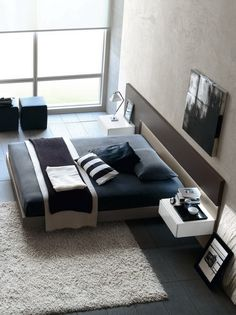 Modern yatak odası tasarımları 12