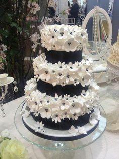 Black And White W Cake