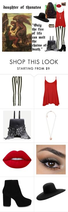 """""""daughter of Thanatos"""" by tani-gabriel on Polyvore featuring Mode, Off-White, WearAll, WithChic, Michael Kors, Lime Crime, ALDO und Maison Michel"""