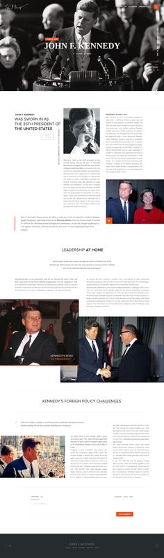Best About Pages – Showcasing the best of the best about page examples on the web » John F. Kennedy