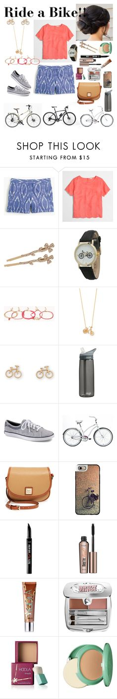 """Riding a bike on a nice summer day!!!!"" by ashes611 ❤ liked on Polyvore featuring J.Crew, L. Erickson, Geneva, Forever 21, Alex Monroe, CamelBak, Keds, Hermès, Gucci and Dooney & Bourke"