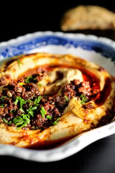 Hummus with Spicy Lamb