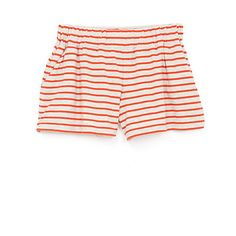 Red and White STRIPED JERSEY SHORT - Steven Alan