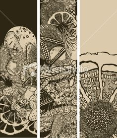 Microbiology banners Royalty Free Stock Vector Art Illustration