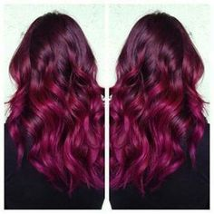 raspberry hair color. Love it! #haircolor