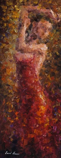 """""""Dancer in red"""" by Leonid Afremov ___________________________ Click on the image to buy this painting ___________________________ #art #painting #afremov #wallart #walldecor #fineart #beautiful #homedecor #design"""