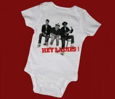 Beastie Boys - Hey Ladies Onesie For when I we have a boy! Cute Kids, Cute Babies, Baby Kids, Band T Shirts, Boy Onesie, Onesies, My Boys, Little Boys, Style