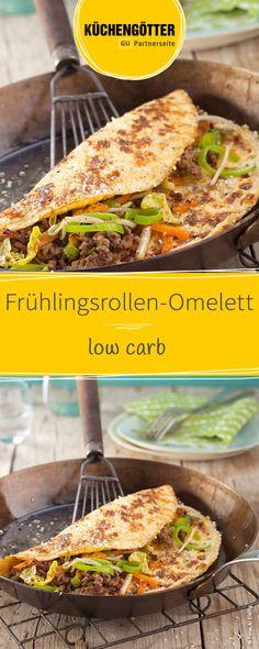 Low Carb Rezept für Frühlingsrollen-Omelett