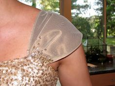 Kaela Wheeler Designs: Tutorial: How to Add Sleeves to a Strapless Dress