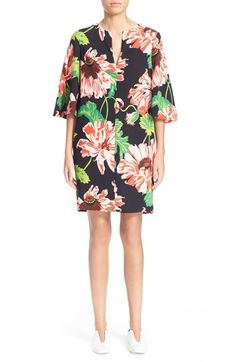 Stella McCartney Floral Print Shift Dress available at #Nordstrom