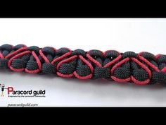 Heart stitched paracord bracelet - YouTube