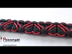 Heart stitched paracord bracelet - YouTube