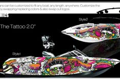 Boat Wraps | Marine Vinyl Graphics | Wake Graphics Sanger Boats, Red Crafts, Boat Wraps, How To Wrap Flowers, Trash Polka, Rough Riders, Culture Shock, Boat Painting, Pacific Blue