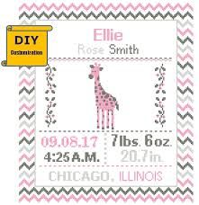 Image result for cross stitch birth announcement patterns free