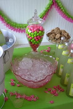 pink & green gumballs for decor!