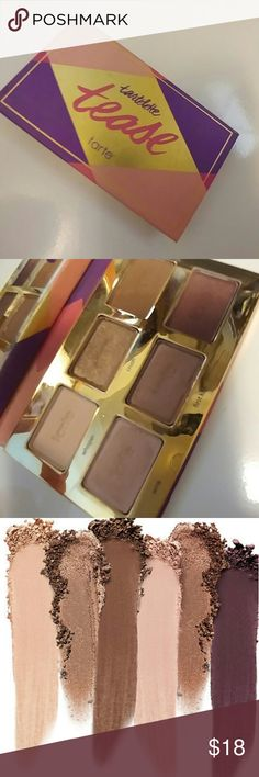Tarte 'Tease' eyeshadow pallette Only tested a few of the colors, the rest are brand new. Excellent-like new condition. Beautiful natural colors. Please see photos for details on product. tarte Makeup Eyeshadow