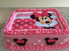 Torta Minnie Mouse, Mini Mouse Cake, Minnie Mouse Birthday Decorations, Minnie Mouse Cookies, Bolo Minnie, Minnie Mouse 1st Birthday, Minnie Cake, 1st Birthday Cakes, Mickey Mouse Cake