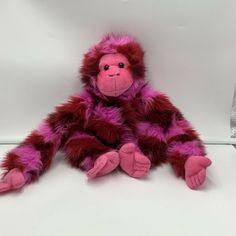 "Animal Alley Pink Monkey Gorilla Plush Soft Toy Stuffed Toys R Us 14"" Animal #AnimalAlley"