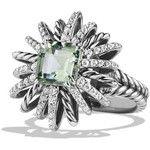 David Yurman 23mm Diamond & Prasiolite Starburst Ring
