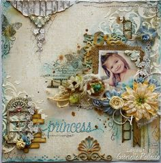 """Such a Pretty Mess: """"Princess"""" in taupes and pale blues with hints of yellows and greens."""