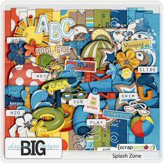 Digital Scrapbook Bundle - Splash Zone Bundle l Dream Big Designs