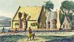 Jean-Pierre_Norblin_de_La_Gourdaine_after_Louis_Choris_Temple_du_Roi_dans_la_baie_Tiritatéa_c._1816_published_1822.jpg (1270×732)
