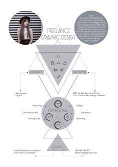 My curriculum vitae, design by me :) dtqmi---도형과 선을 이용한 그래픽이 재미있고 디자인스러운 이력서라고 생각함