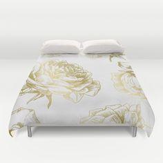 Roses Gold Duvet Cover