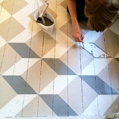 """Fantastic floor in the making at the @byggfabriken store."""