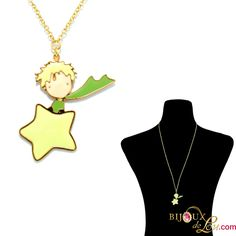 Little Prince Necklace: This item is perfect for Little Prince fans. The necklace pendant is 1 1/4 inches high. Gold plated and hand painted in colorful enamel. Matching bracelet, ring and earrings sold separately.