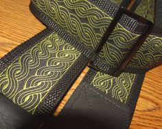 Black & Olive Embroidered Trim GUITAR by ScentedSoftandSewn, $32.50