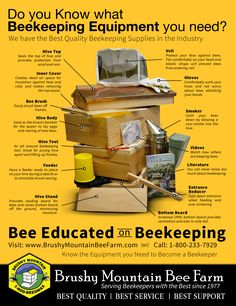 Know the Supplies You Need to Get Started in Beekeeping. Check out Brushy Mountain Bee Farm!